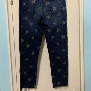 Current/Elliott Jeans - Current Elliot Raw Hem Star Print Ankle Jean